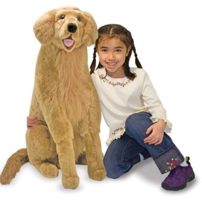 stuffed golden retriever life sized