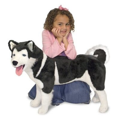 giant stuffed husky