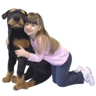 plush, stuffed rottweiler, life sized