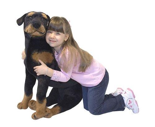 plush, stuffed rottweiler, life sized