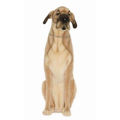 hansa life size great dane stuffed plush animal sitting plush dogs. Black Bedroom Furniture Sets. Home Design Ideas
