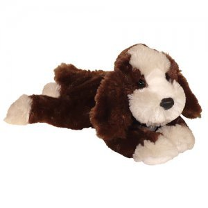cockapoo brown white plush